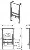 Инсталляция для подвесного биде ТЕСЕ 9330005 (h = 820 мм) - 1