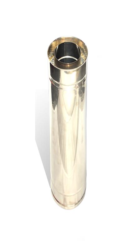 Димохідна труба нержавійка з теплоізоляцією в нержавійці  L = довжина : 0,5 м, Сталь :0,8 мм - 1