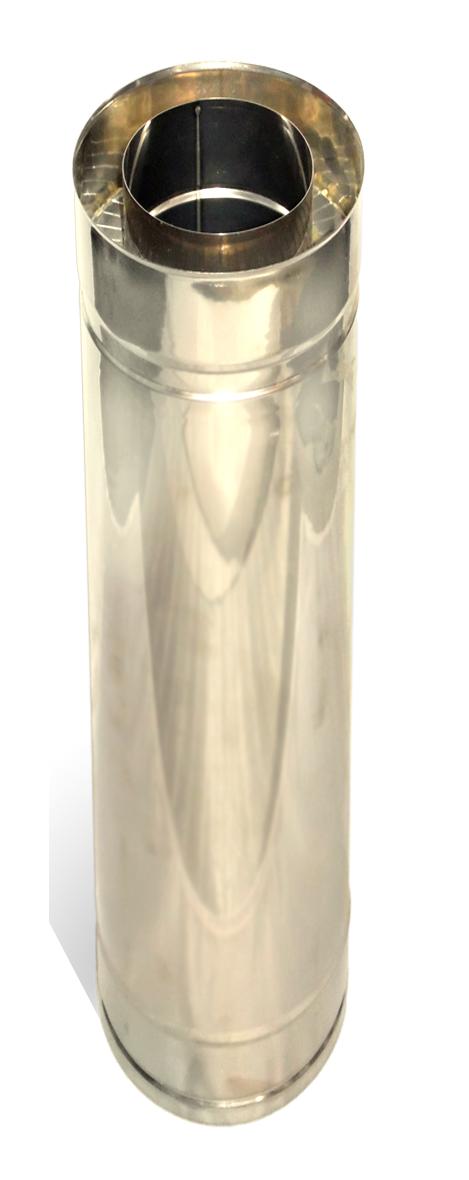 Димохідна труба нержавійка з теплоізоляцією в нержавійці  L = довжина :1м, Сталь :1 мм - 1