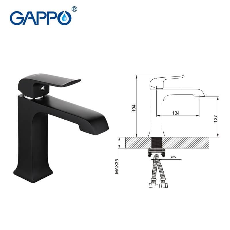 Gappo Aventador G1050 — Змішувач для умивальника - 2