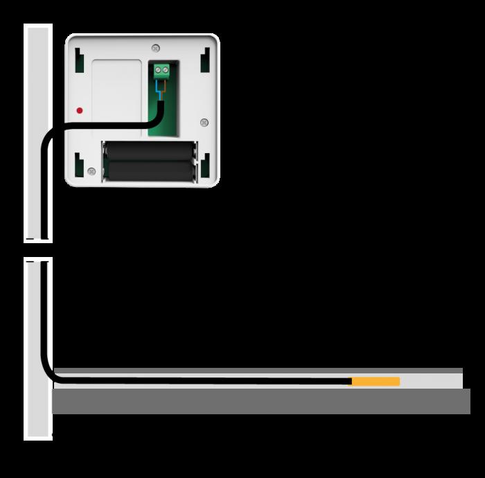 Бездротовий кімнатний датчик TECH C-8f для теплої підлоги - 1