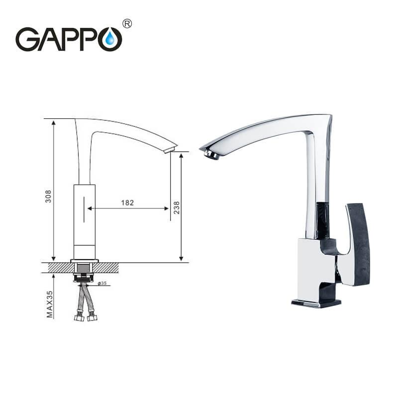 Gappo Jacob G4007 — Змішувач для кухні - 5