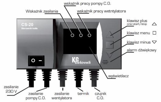 KG Elektronik CS-20 (для вентилятора і насоса ЦО) - 1