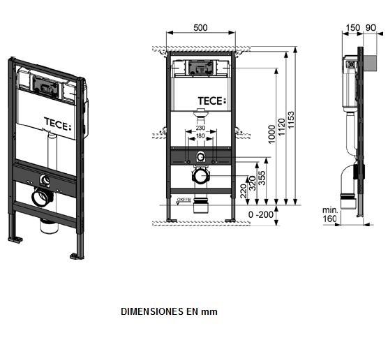 Інсьталяція TECEbase (модуль+панель змиву TECEbase біла+кріплення) - 1