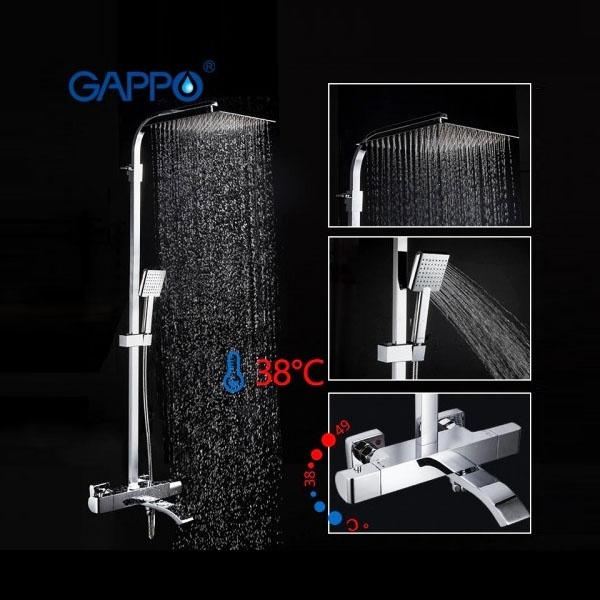 Gappo G2407-40 — Душова система з термостатом - 2