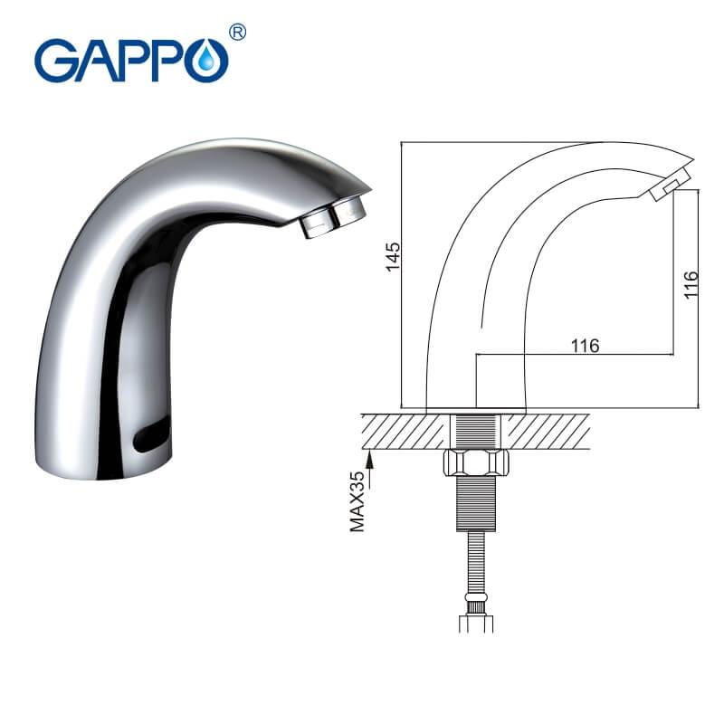 Gappo G517 — Змішувач для умивальника з сенсором - 5