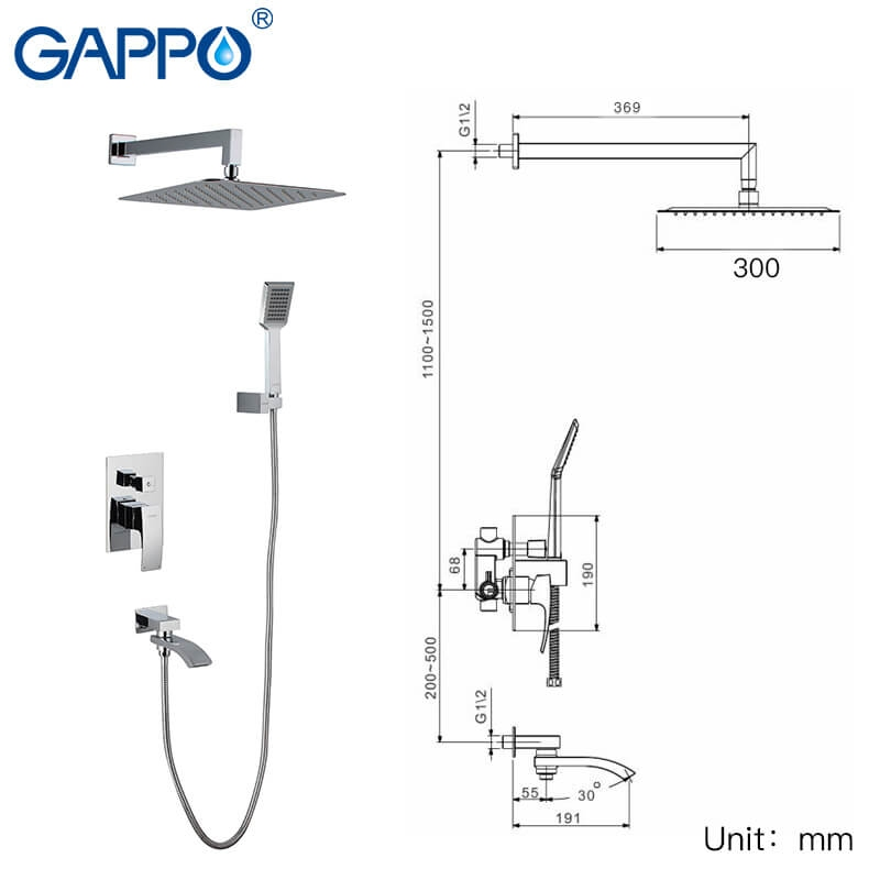 Gappo Jacob G7107 — Душова система - 3