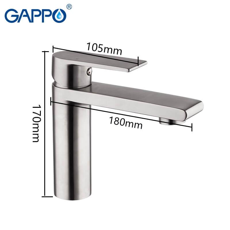 Gappo Satenresu-ko G1099-20 — Змішувач для умивальника - 2