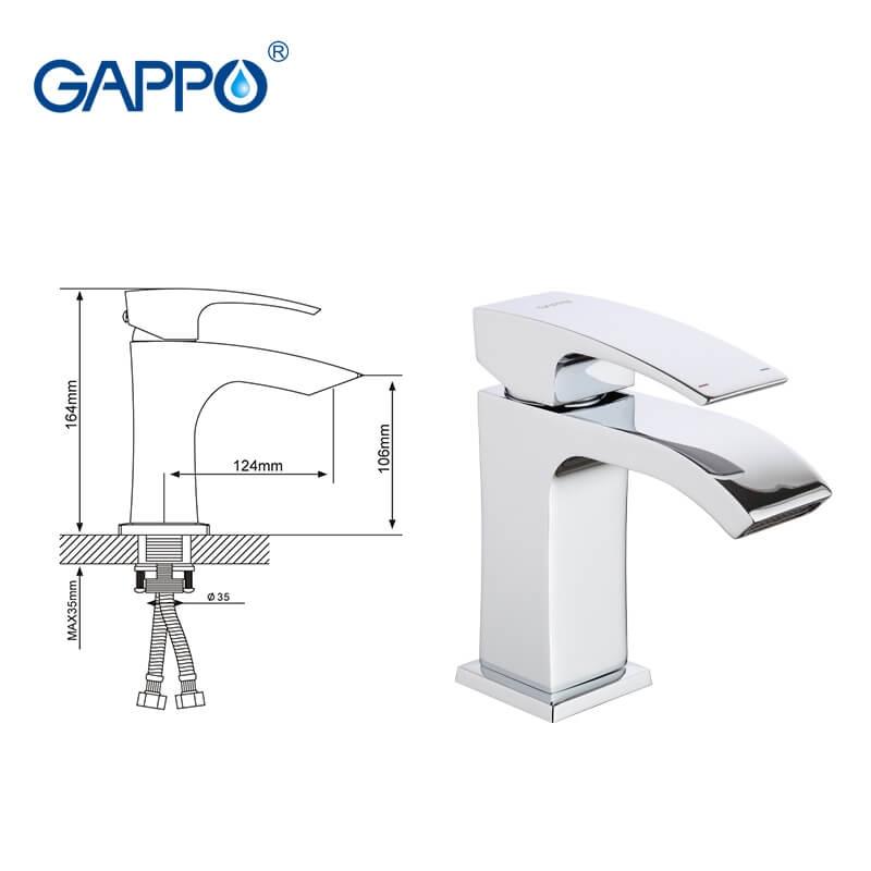 Gappo Jacob G1007-1 — Змішувач для умивальника - 6
