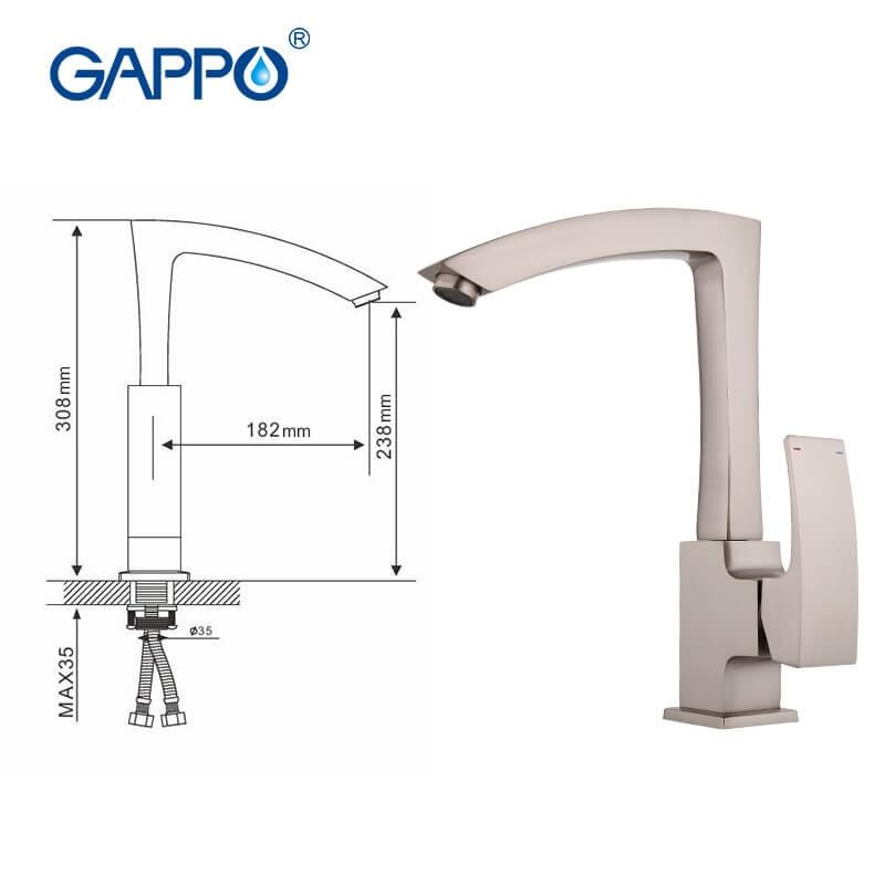 Gappo Jakob G4007-5 — Змішувач для кухні - 6