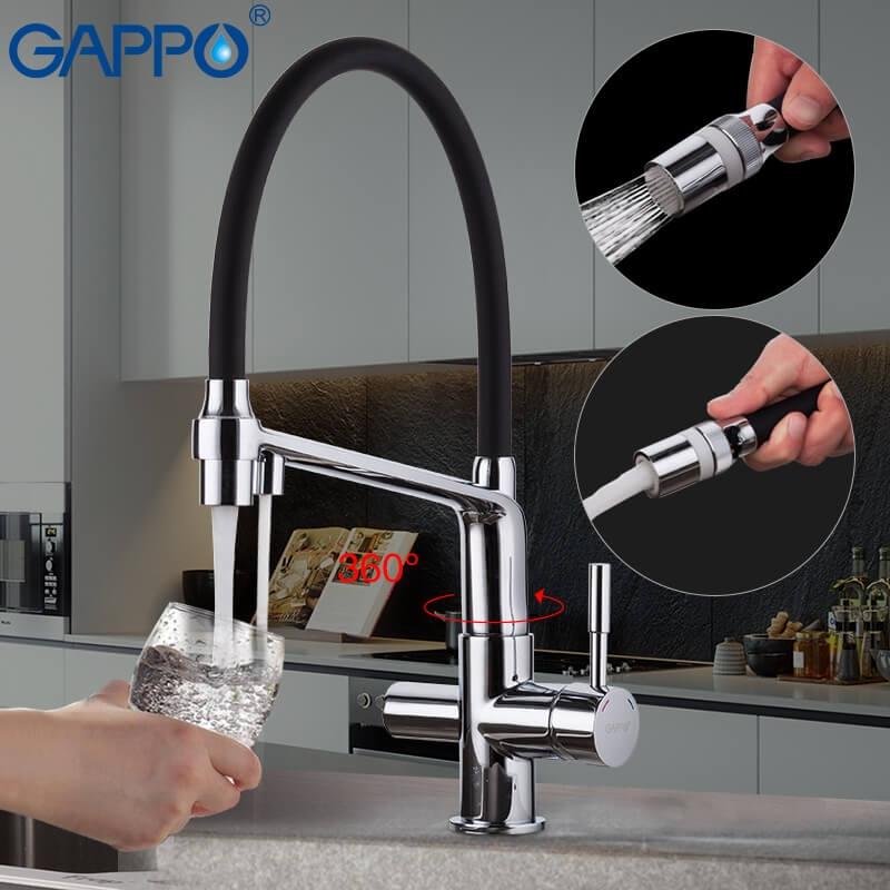 Gappo G4398-7 — Змішувач для кухні пiд фiльтр - 5