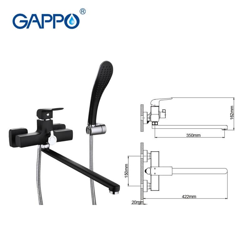 Gappo Aventador G2250 — Змішувач для ванни - 2