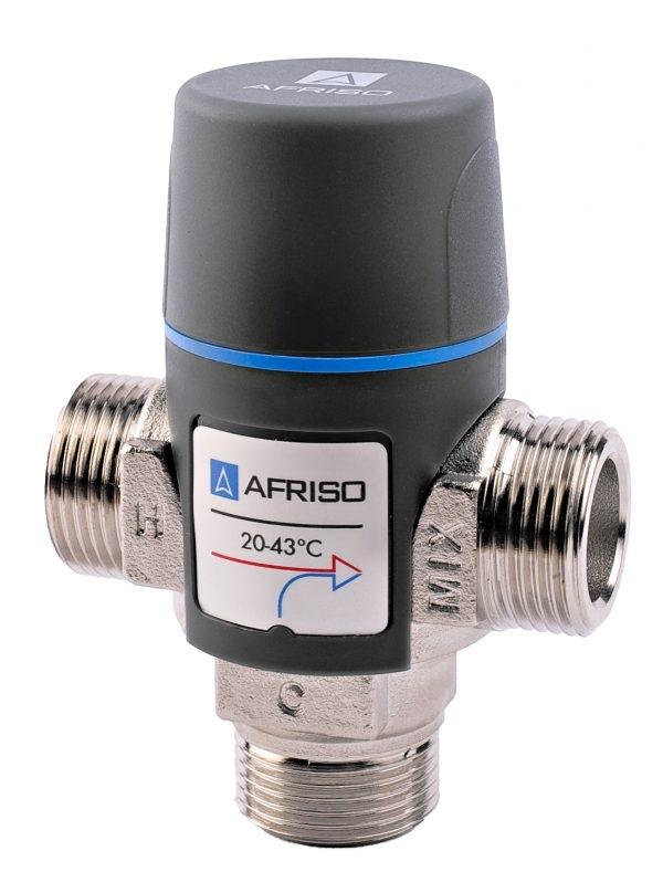 """Термостатичний змішувальний клапан Afriso АТМ 341 20-43 ° С 3/4 """" - 1"""