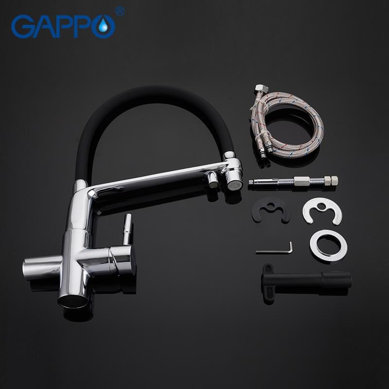 Gappo G4398-7 — Змішувач для кухні пiд фiльтр - 4