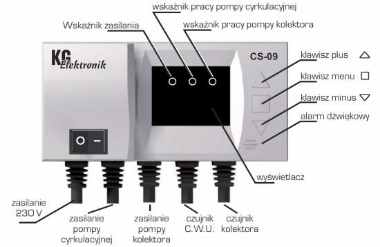 KG Elektronik CS-09 (для насоса сонячного колектора і циркуляційного насоса) - 1