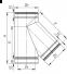Трійник димохідний нержавійка з теплоізоляцією в нержавійці 45° сталь: 0,8 мм - 2