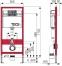 Інсталяція ТЕСЕbase для підвісного унітазу з фронтальним положенням панелі змиву, висотою 1120 мм (модуль+крфплення) - 1